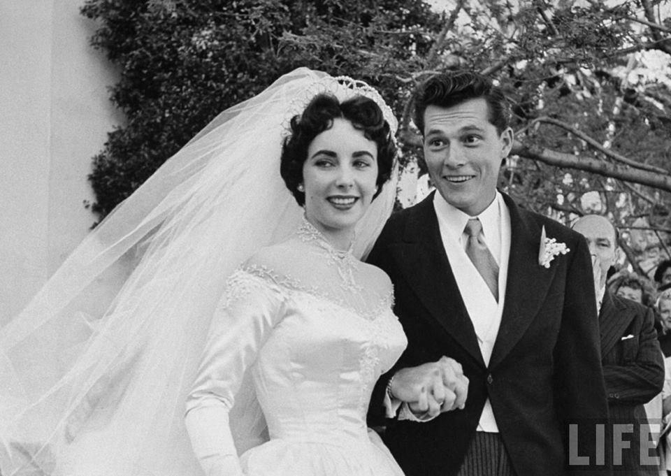 """elizabeth taylor Conrad Nicholson """"Nicky"""" Hilton Jr. wedding honeymoon Texas Trost Society"""