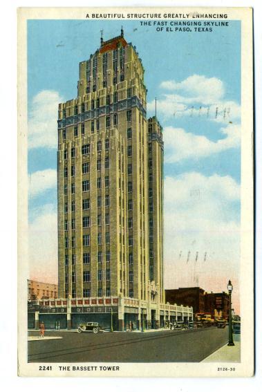 Vintage Postcard View of Bassett Tower