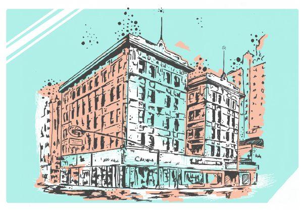 12×18 Trost Banner Building Print