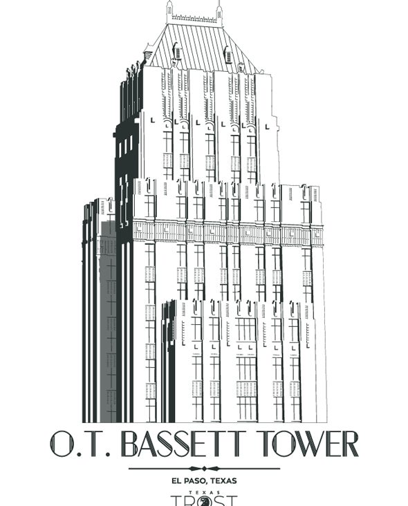 18×24 Trost Bassett Tower Print