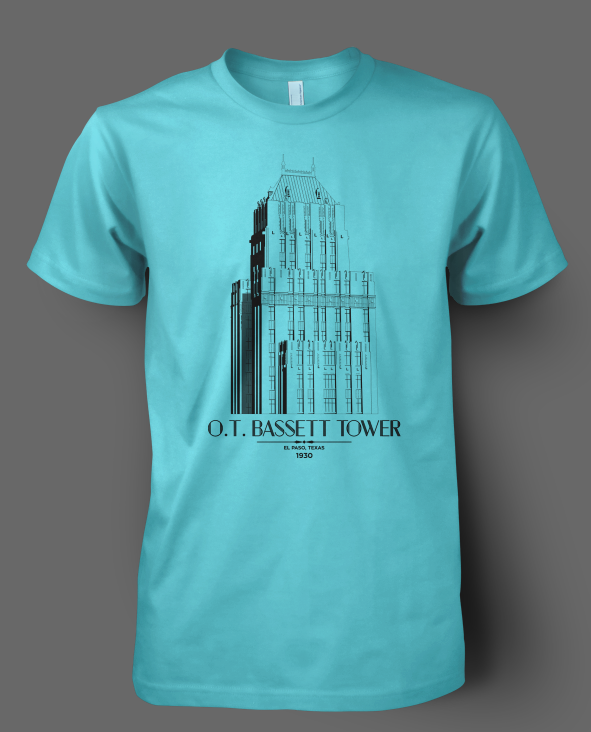 Trost Society Banner Building T-shirt